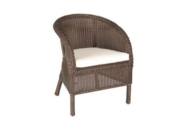 Cadeira em Aço com Rattan Almofada Bege - Taizhou