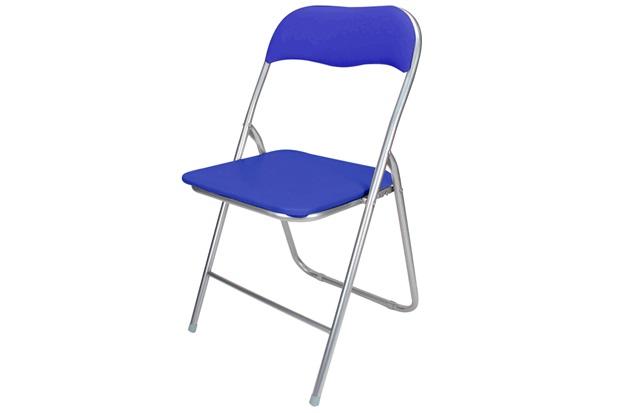 Cadeira em Aço Dobrável 44x90cm Azul - Casanova