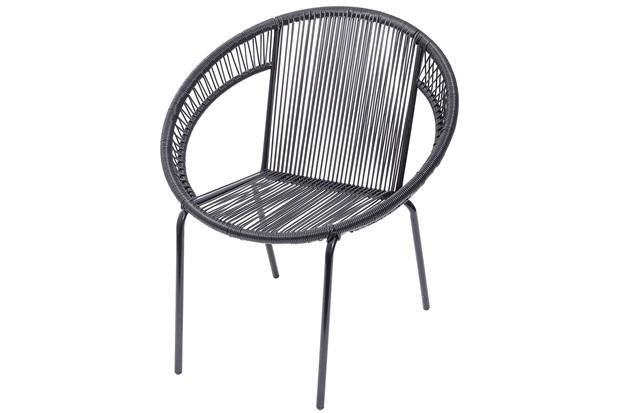 Cadeira em Aço E Pvc Cancun Preta - Ór Design