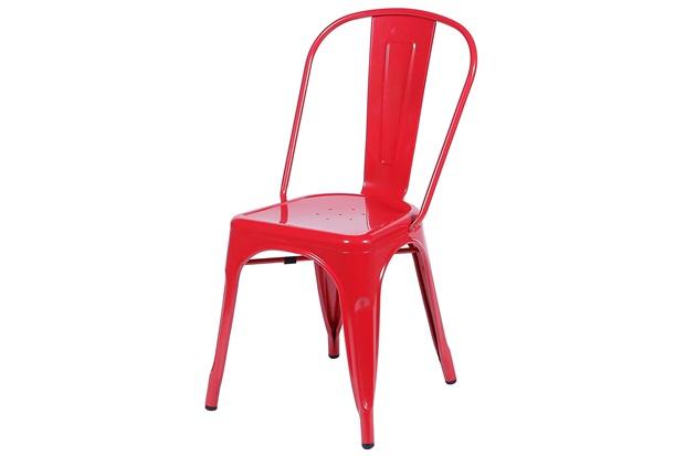 Cadeira em Alumínio Tommy Vermelha - Ór Design