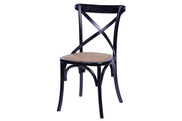 Cadeira em Madeira Cross 48x55cm Preta - Ór Design