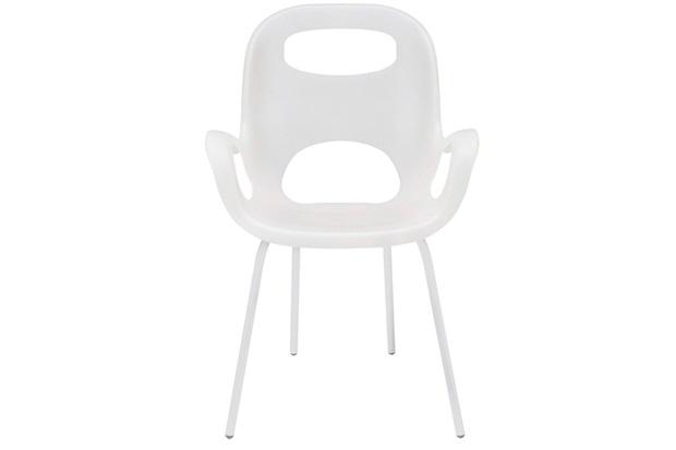 Cadeira em Polipropileno com Braço Oh Chair Branco - Casa Etna