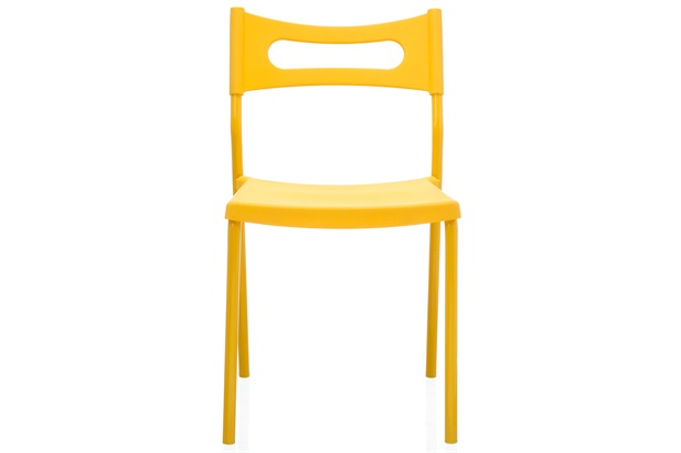 Cadeira em Polipropileno Easy 41x49cm Amarela - Casa Etna