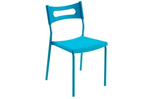 Cadeira em Polipropileno Easy 41x49cm Azul - Casa Etna