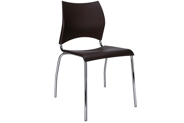 Cadeira em Polipropileno Potim 2 48,5x56,5cm Café - Casa Etna