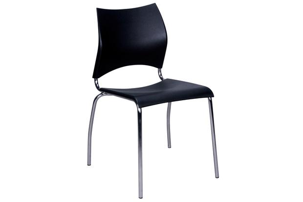 Cadeira em Polipropileno Potim 2 48,5x56,5cm Preta - Casa Etna