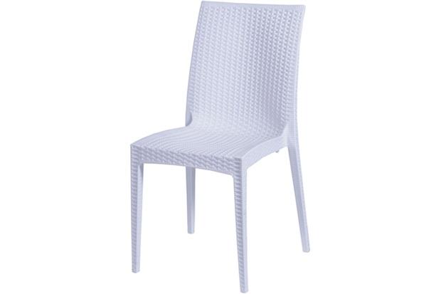 Cadeira em Polipropileno Tramas Branca - Ór Design