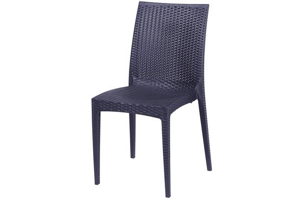 Cadeira em Polipropileno Tramas Preta - Ór Design
