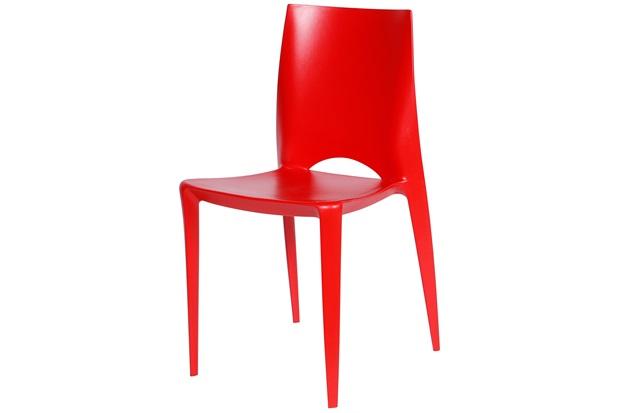 Cadeira em Polipropileno Zoe Vermelha - Ór Design