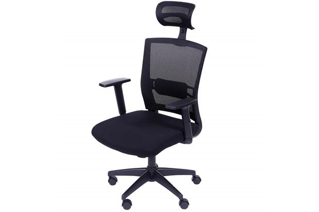 Cadeira para Escritório com Base Giratória E Encosto para Cabeça New Ergon 123,5x59,5cm Preta - Ór Design