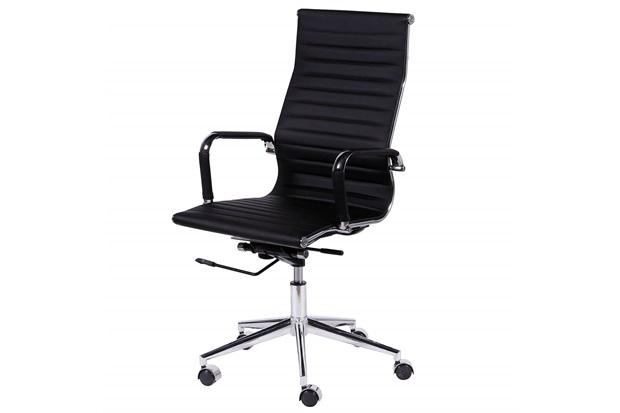 Cadeira para Escritório com Base Giratória Eames 114x61cm Preta - Ór Design