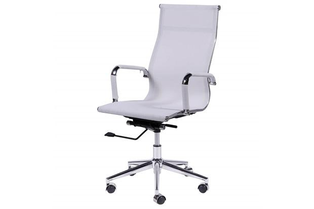 Cadeira para Escritório com Base Giratória Eames Tela 112,5x61cm Branca - Ór Design
