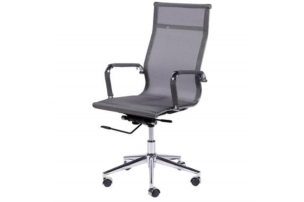 Cadeira para Escritório com Base Giratória Eames Tela 112,5x61cm Cinza - Ór Design