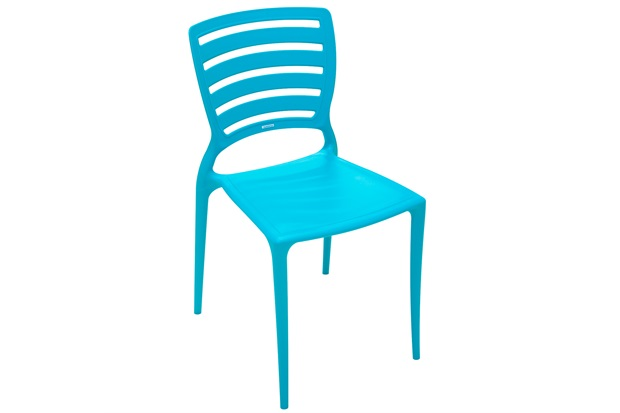 Cadeira sem Braços em Polipropileno Sofia 82,5x45,5x53cm Azul - Tramontina