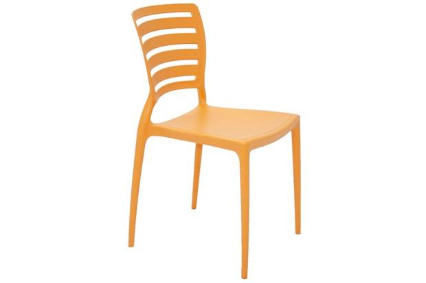 Cadeira Sofia com Encosto Vazado Laranja  - Tramontina