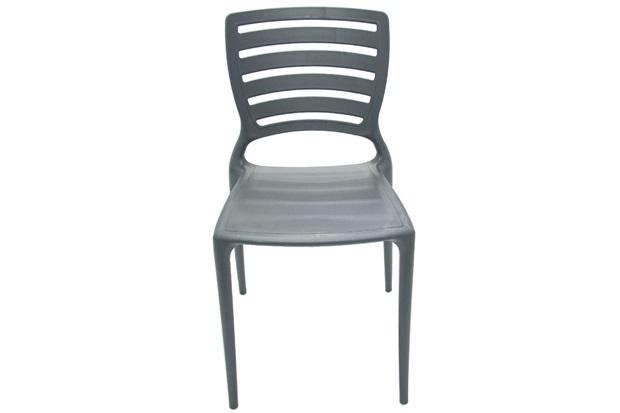 Cadeira Sofia Encosto Vazado Grafite - Tramontina