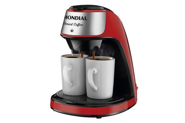 Cafeteira Elétrica Smart Coffe C-42-2x-Ri Vermelho E Inox 220v - Mondial