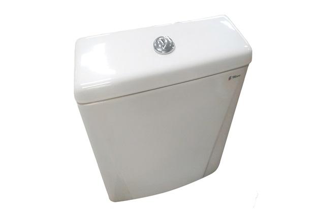Caixa Acoplada com Acionamento Duplo 3 E 6 Litros Gardênia Branca - Mari Louças Sanitárias