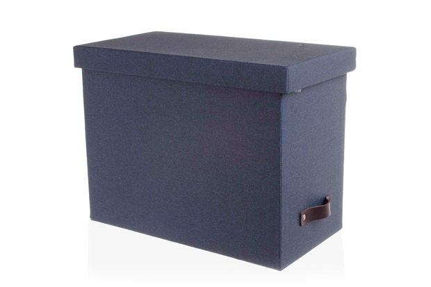 Caixa Arquivo com Divisórias Azul - Casa Etna