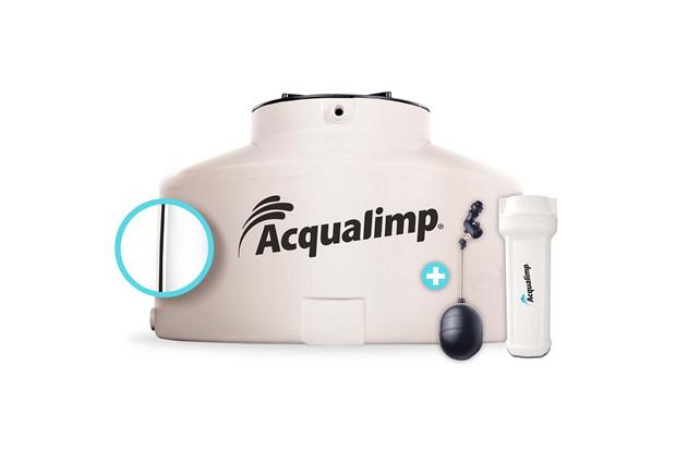 Caixa D'Água em Polietileno Água Limpa com 2 Acessórios 1500 Litros Bege - Acqualimp