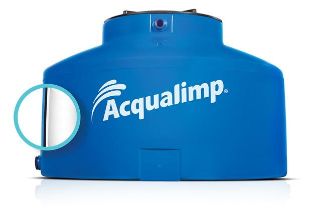 Caixa D'Água em Polietileno Água Protegida com 1750 Litros Azul - Acqualimp