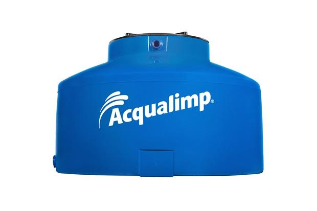 Caixa D'Água em Polietileno Água Protegida com 310 Litros Azul - Acqualimp