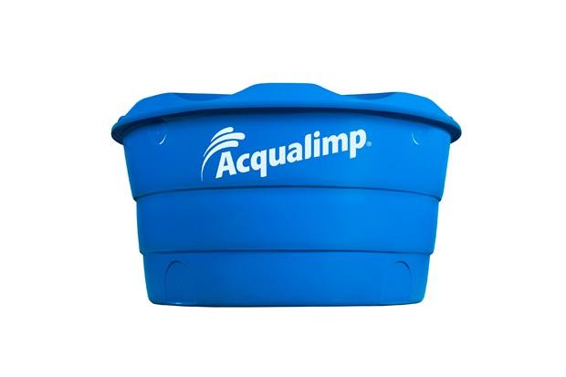 Caixa D'Água em Polietileno Básica com 1000 Litros Azul - Acqualimp