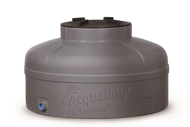 Caixa D'Água Fácil Instalação Cinza  - Acqualimp
