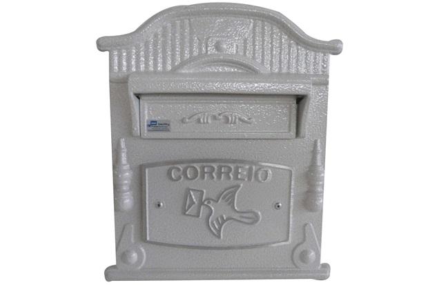 Caixa de Correio em Alumínio Vitória 24x31cm Branca - Prates & Barbosa