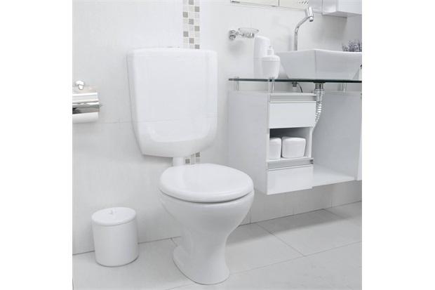 Caixa de Descarga Baixa para Bacia Sanitária Branca - Astra