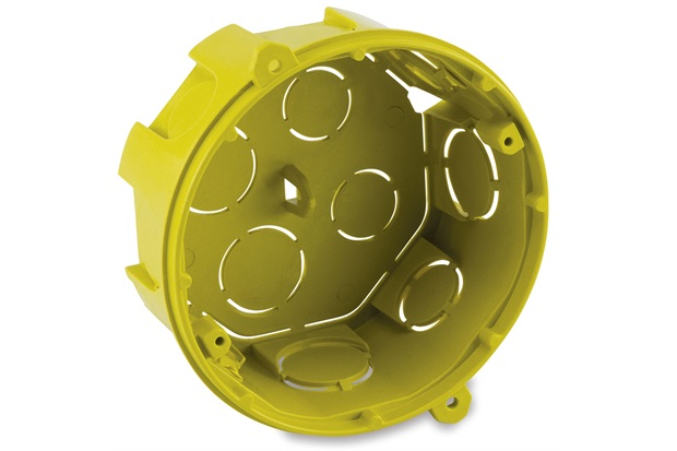 Caixa de Luz em Polipropileno 4x4 Octogonal Amarela - Force Line