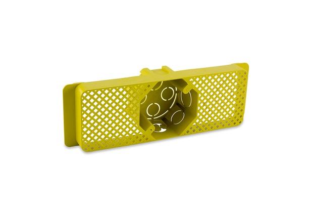 Caixa de Luz em Polipropileno para Lage 4x4 Octogonal Amarela - Force Line