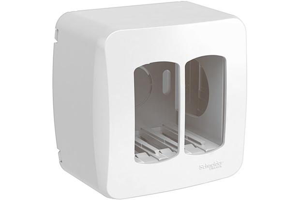 Caixa de Sobrepor Miluz para 2 Módulos Branca - Schneider