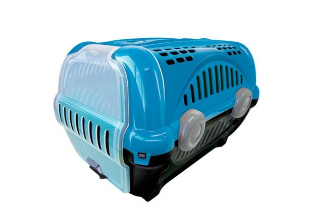 Caixa de Transporte para Pets Luxo 28,5x30cm Azul - Furacão Pet