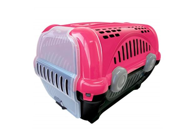 Caixa de Transporte para Pets Luxo 28,5x30cm Rosa - Furacão Pet