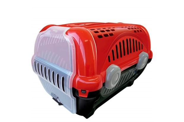 Caixa de Transporte para Pets Luxo 30,5x34,5cm Vermelha - Furacão Pet