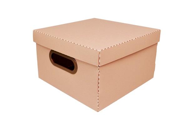 Caixa Organizadora com Tampa Linho Terracota 15x25cm - Dello