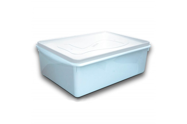Caixa Organizadora Du Cheff com Tampa 11 Litros Branca - Plásticos Santana