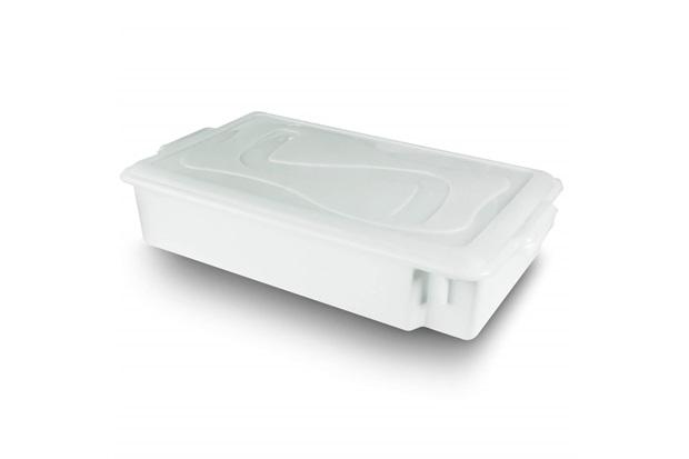 Caixa Organizadora Gourmet com Tampa 11,5 Litros Branca - Plásticos Santana