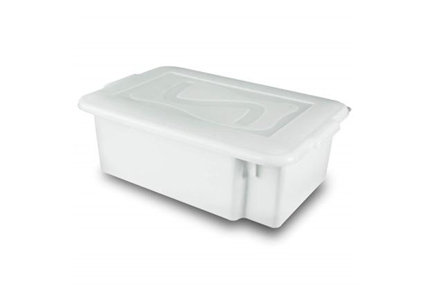 Caixa Organizadora Gourmet com Tampa 12 Litros Branca - Plásticos Santana