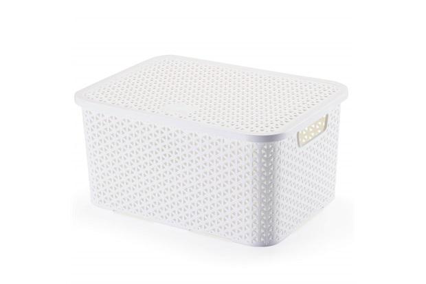 Caixa Organizadora Mosaico com 16 Litros Branca - Arthi
