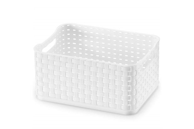 Caixa Organizadora Rattan com 1,74 Litros Branca - Arthi