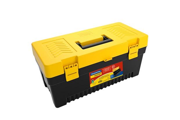 Caixa Plástica para Ferramentas 20'' Preta E Amarela - Tramontina