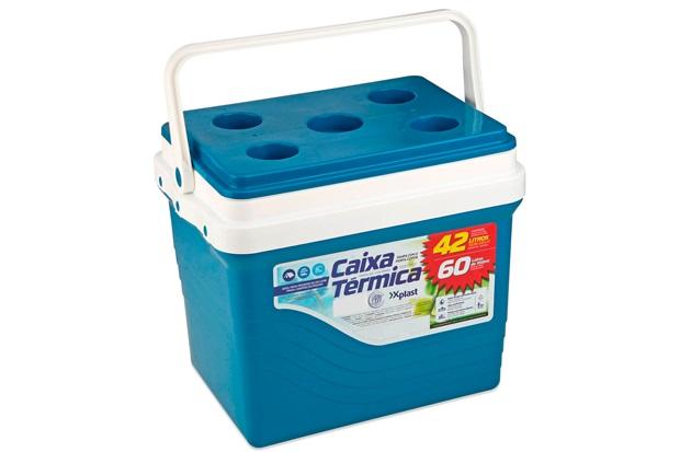 Caixa Térmica Azul 42 Litros - Xplast