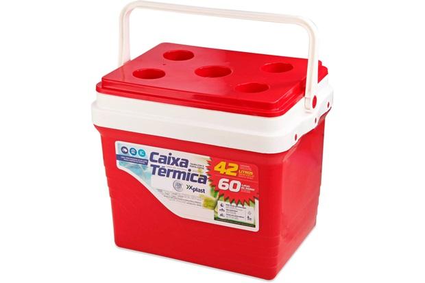 Caixa Térmica Vermelha 42 Litros - Xplast