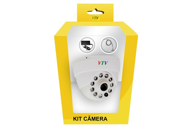 Câmera Dome 20m Branca - VTV DIGITAL