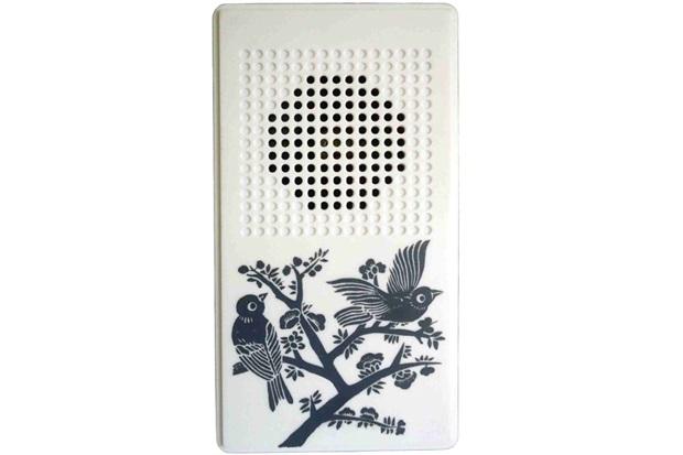 Campainha Eletrônica com Fio 110v Som de Pássaros Branca - Key West