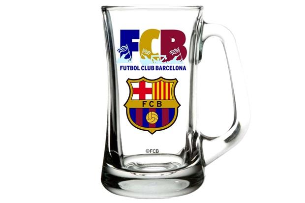 Caneca para Cerveja em Vidro Scandinavia Futebol Club Barcelona 355ml Transparente - Libbey