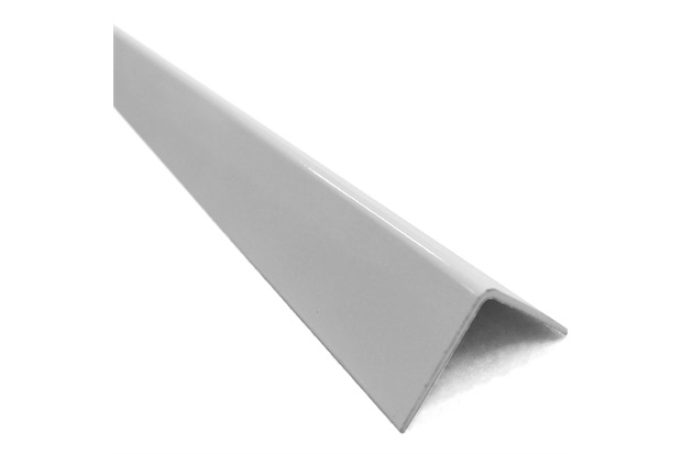 """Cantoneira em """"L"""" de Alumínio 3/4"""" Branca com 3 Metros - Metropac"""