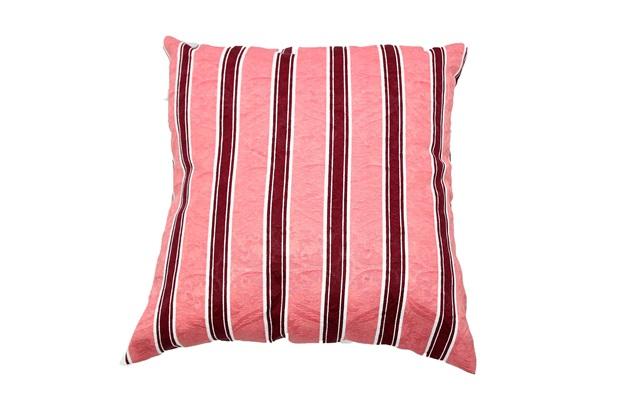 Capa para Almofada Listrada 43x43cm Vermelha - Próxima Têxtil